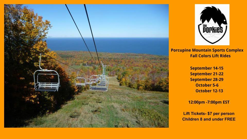 Fall Color Chair Lift Rides - Porcupine Mountain Ski Area