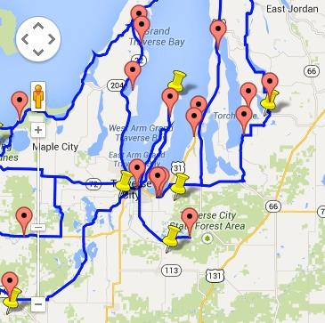 Map Of Traverse City Michigan Traverse City Area Fall Color – See Traverse City, Michigan Map Of Traverse City Michigan